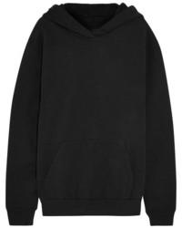 MM6 MAISON MARGIELA Oversized Cotton Jersey Hooded Top Black