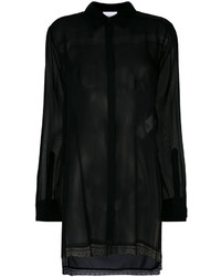 DKNY Sheer Fitted Blouse