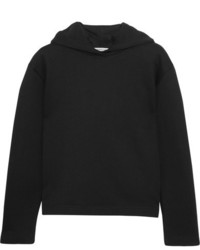 Balenciaga Suspended Cotton Terry Hooded Top Black