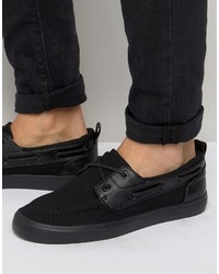 Asos Boat Shoes In Black