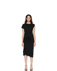 Paco Rabanne Black Gathered Jersey Dress