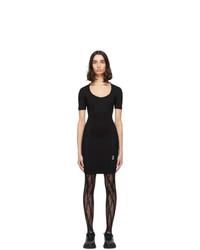 Versace Jeans Couture Black Mesh Bodycon Dress