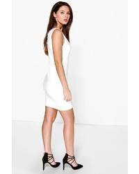 Bodycon dress open boohoo square back neck debenhams