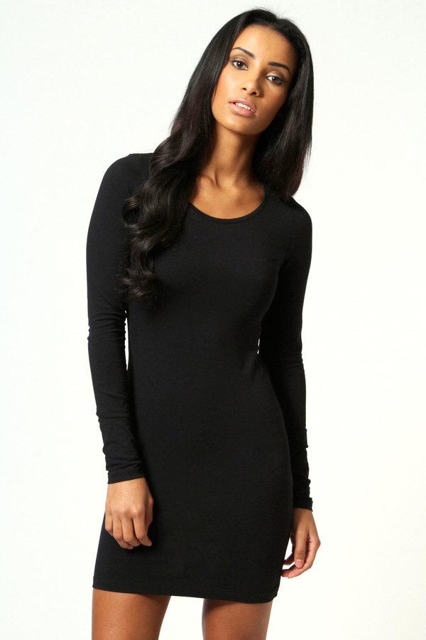 b895eaf0bd6a Boohoo Camille Long Sleeve Jersey Bodycon Dress, $14 | BooHoo ...