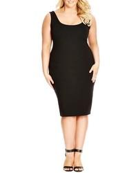 City Chic Plus Size Basic Body Con Tank Dress