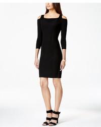 Calvin Klein Cold Shoulder Bodycon Sweater Dress