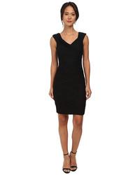 Calvin Klein Crisscross Pleat Bodycon Cocktail Dress