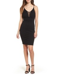 Cross front body con dress medium 4913451