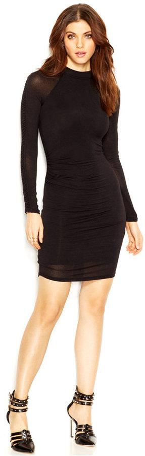 Guess Long Sleeve Mock Turtleneck Body Con Dress 89 Macys