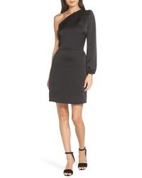 Fraiche by J One Shoulder Satin Dress