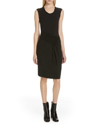 Helmut Lang Pleated Jersey Dress
