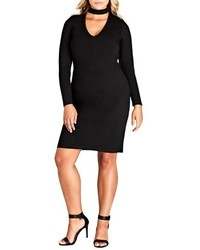 Plus size peekaboo body con dress medium 5260032