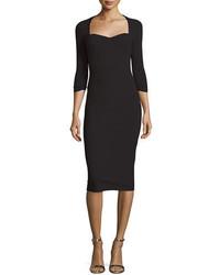 La Petite Robe di Chiara Boni Serenity 34 Sleeve Body Conscious Dress