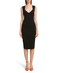 Victoria Beckham Sweetheart Neck Body Con Dress