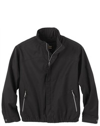 Ash City North End Black Micro Twill Water Resistant Bomber Jacket Coat