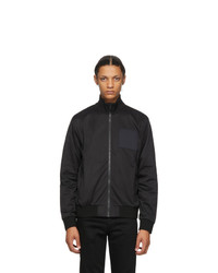 Givenchy Black Address Logo Patch Bomber Jacket