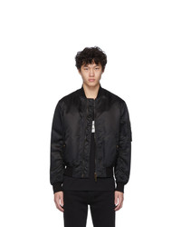 Givenchy Black Button Bomber Jacket
