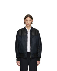 Neil Barrett Black City Light Bomber Jacket