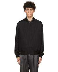 4SDESIGNS Black Cotton Bomber Jacket