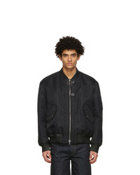 Wooyoungmi Black Double Layer Ma 1 Bomber Jacket
