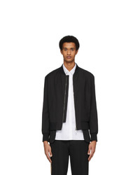 Neil Barrett Black Extended Bomber Jacket