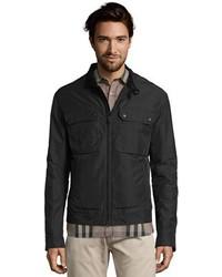 Gucci Black Nylon Four Pocket Zip Front Bomber Jacket