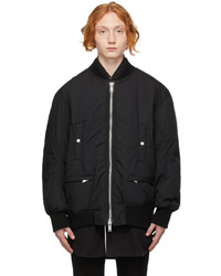 Undercoverism Black Padded Bomber Jacket