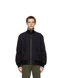 Helmut Lang Black Ped Bomber Jacket