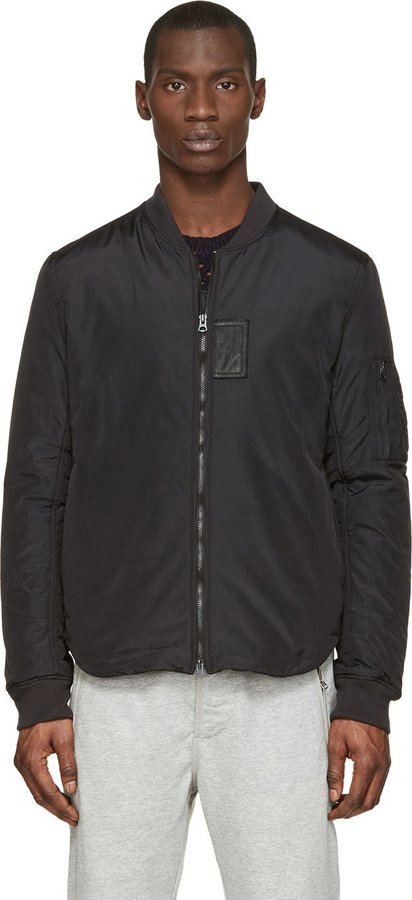 Acne Studios Black Silas Light Bomber Jacket | Where to buy & how ...