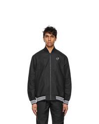 adidas x Human Made Black Tyvek Track Bomber Jacket
