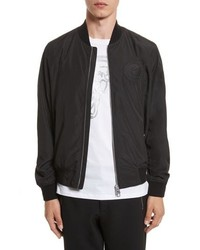 Versace Collection Bomber Jacket With Patch