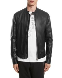 Versace Collection Cafe Racer Leather Jacket