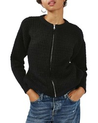 Chunky knit bomber sweater medium 816993