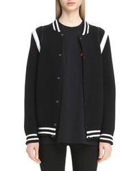 Givenchy Contrast Logo Bomber Jacket