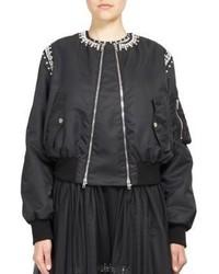 Givenchy Crystal Detail Bomber Jacket