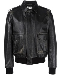 Distressed effect bomber jacket medium 1196854