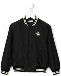 Dolce & Gabbana Kids Crown Crest Bomber Jacket
