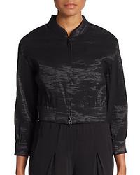 Donna Karan Cropped Bomber Jacket