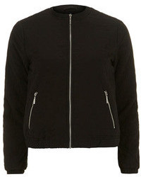 Dorothy Perkins Black Quilted Fabric Bomber Jacket