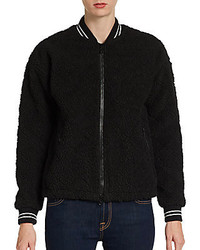 Elizabeth and James Lena Sherpa Quilted Fleece Varsity Jacket