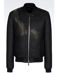 Emporio Armani Bomber In Wool Blend