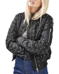 Eyelet bomber jacket medium 952143