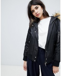 New Look Faux Bomber Jacket