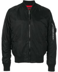 Marcelo Burlon County of Milan Front Zip Bomber Jacket