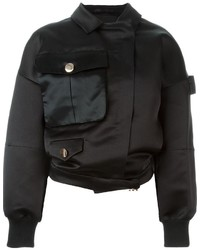 House of Holland Satin Applique Bomber Jacket