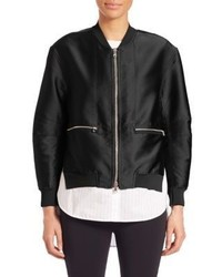 3.1 Phillip Lim Layered Shirttail Hem Bomber Jacket
