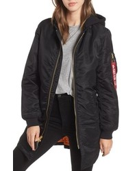 Alpha Industries Ma 1 Natus Long Hooded Jacket