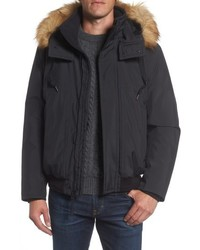 Andrew Marc Marc New York Insulated Bomber Jacket With Faux Fur Trim