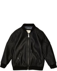 River Island Mini Boys Black Quilted Bomber Jacket