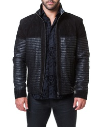 Maceoo Mosaic Leather Suede Jacket